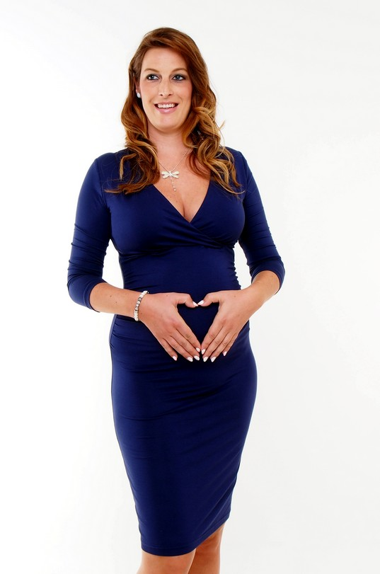 Ultramarine Maternity Nursing Dress