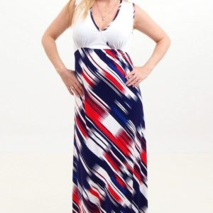 White-striped Maxi Dress
