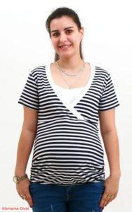 Breton Striped Nursing Top