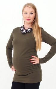 Fleeced Maternity Top