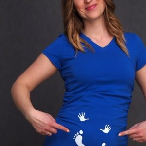 Hands and Feet Maternity T-shirt home