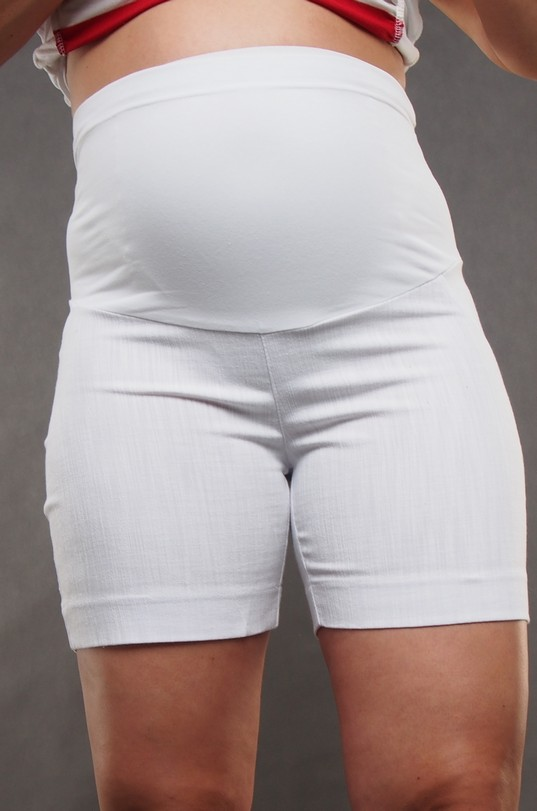 White Maternity Shorts