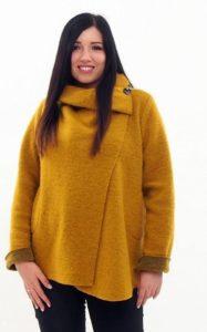 Cowl Neck Poncho Coat